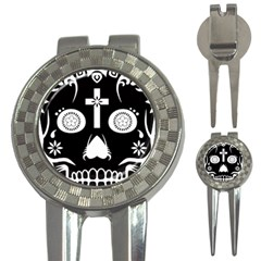 Sugar Skull Golf Pitchfork & Ball Marker