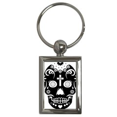 Sugar Skull Key Chain (rectangle)