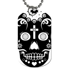 Sugar Skull Dog Tag (one Sided)