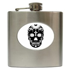 Sugar Skull Hip Flask