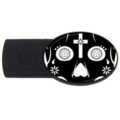 Sugar Skull 2GB USB Flash Drive (Oval)