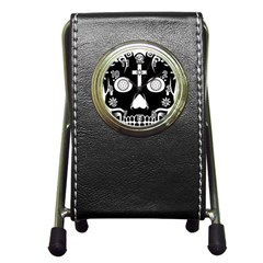 Sugar Skull Stationery Holder Clock