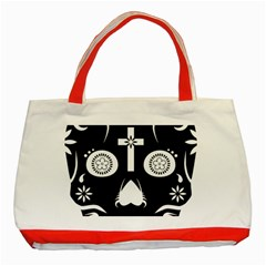 Sugar Skull Classic Tote Bag (red)