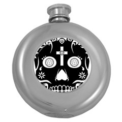Sugar Skull Hip Flask (round)