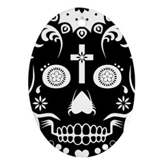 Sugar Skull Oval Ornament (Two Sides)