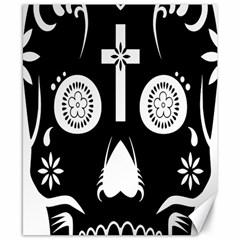 Sugar Skull Canvas 8  x 10  (Unframed)