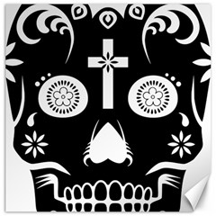 Sugar Skull Canvas 12  x 12  (Unframed)