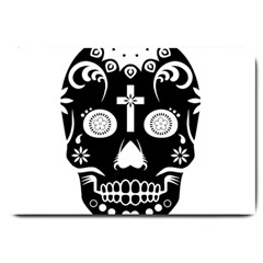 Sugar Skull Large Door Mat