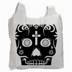 Sugar Skull Recycle Bag (One Side)