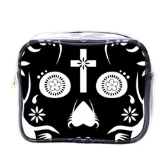 Sugar Skull Mini Travel Toiletry Bag (One Side)
