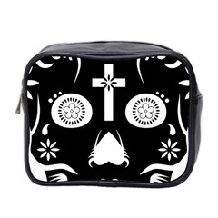 Sugar Skull Mini Travel Toiletry Bag (Two Sides)