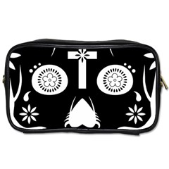Sugar Skull Travel Toiletry Bag (one Side)