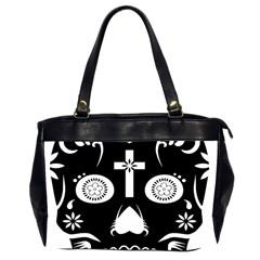 Sugar Skull Oversize Office Handbag (two Sides)