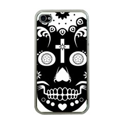 Sugar Skull Apple iPhone 4 Case (Clear)