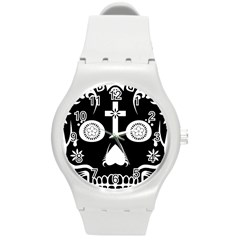 Sugar Skull Plastic Sport Watch (Medium)