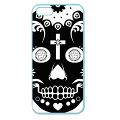 Sugar Skull Apple Seamless iPhone 5 Case (Color)
