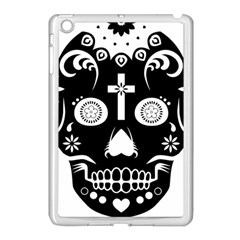 Sugar Skull Apple iPad Mini Case (White)