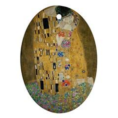 Klimt   The Kiss Oval Ornament