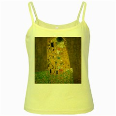 Klimt   The Kiss Yellow Spaghetti Tank