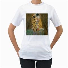 Klimt - The Kiss Womens  T-shirt (White)