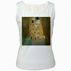 Klimt   The Kiss Womens  Tank Top (white)