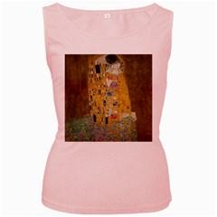 Klimt - The Kiss Womens  Tank Top (Pink)