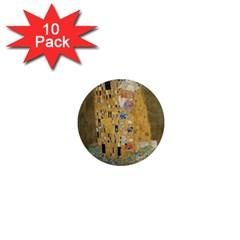 Klimt - The Kiss 1  Mini Button Magnet (10 pack)