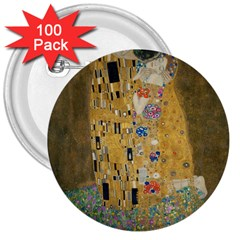 Klimt - The Kiss 3  Button (100 pack)