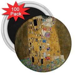 Klimt   The Kiss 3  Button Magnet (100 Pack)