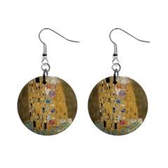 Klimt - The Kiss Mini Button Earrings