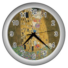 Klimt - The Kiss Wall Clock (Silver)