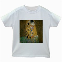 Klimt   The Kiss Kids' T Shirt (white)