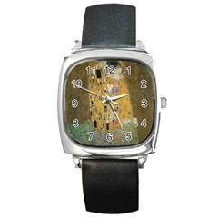 Klimt - The Kiss Square Leather Watch