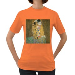 Klimt - The Kiss Womens' T-shirt (Colored)
