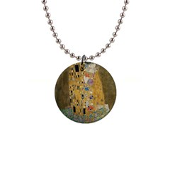 Klimt   The Kiss Button Necklace