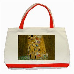 Klimt - The Kiss Classic Tote Bag (Red)