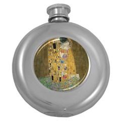 Klimt - The Kiss Hip Flask (Round)