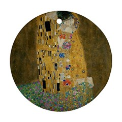 Klimt - The Kiss Round Ornament (Two Sides)