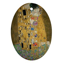 Klimt - The Kiss Oval Ornament (Two Sides)