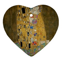 Klimt - The Kiss Heart Ornament (Two Sides)