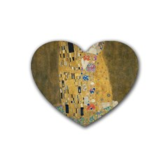 Klimt   The Kiss Drink Coasters 4 Pack (heart)