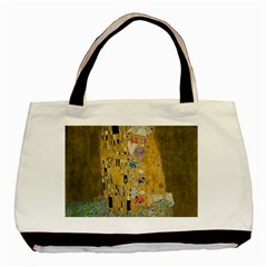 Klimt   The Kiss Twin Sided Black Tote Bag
