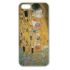 Klimt   The Kiss Apple Seamless Iphone 5 Case (clear)