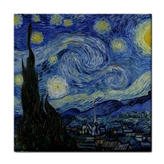 Starry Night Ceramic Tile