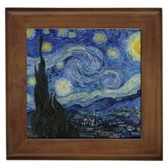 Starry night Framed Ceramic Tile