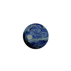 Starry night 1  Mini Button