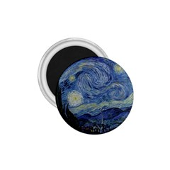 Starry night 1.75  Button Magnet
