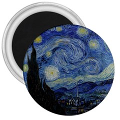 Starry night 3  Button Magnet