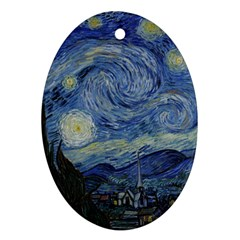 Starry night Oval Ornament