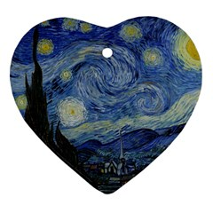 Starry night Heart Ornament
